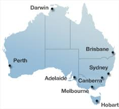 australia map of cities cities in australia map maps of the world