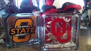 personalized college themed vinyl glass block designers boutique