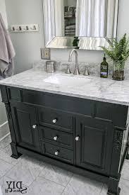 Bathroom Vanities With Marble Tops Black Bathroom Vanity With White Marble Top Cottage Bathroom