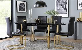 Black Extending Dining Table And Chairs Glass Dining Table Chairs Glass Dining Sets Furniture Choice