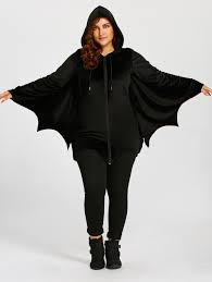 plus size halloween batwing t shirt black xl in plus size t