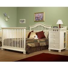 sorelle capecod crib u0026 changer with toddler rail french white