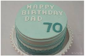 perfect party cake for dad u0027s 70th birthday on to the plate
