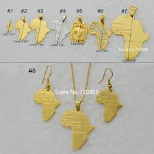 african gold necklace images Anniyo 8 style map of africa pendant necklace chain 45cm 60cm jpg