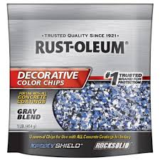 rust oleum 1 lb gray decorative color chips 6 pack 301359 the