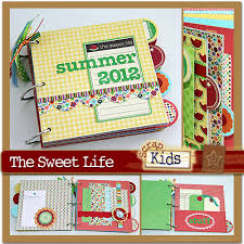 scrapbook album kits scrapscription new scrapkids july 2012 kit release featuring