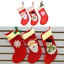 mini christmas stockings socks santa claus candy gift bag xmas