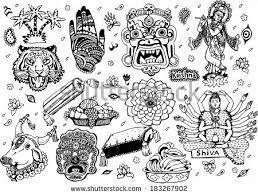doodle indian free vector icons free vector stock