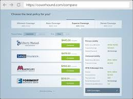 Auto Insurance Estimate Without Personal Information by Coverhound Compare Auto Insurance Quotes