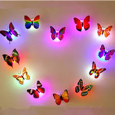honana dx 138 6pcs colors changing led butterfly