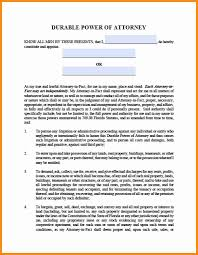 Ohio Durable Power Of Attorney 8 power of attorney florida form action plan template