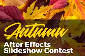 create a fall autumn slideshow with our free after effects