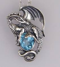 dragon jewelry necklace images Sterling silver blue topaz dragon pendant omg gorgeous dragon jpg