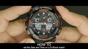how to set the date and time on a g shock watch youtube