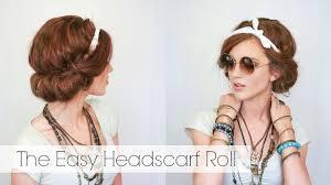 headband roll hair tutorial the easy headscarf roll