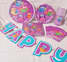 owl birthday party 6 set of owl party supplies birthday party supplies