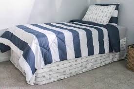 Bed Frame Skirt How To Make A Bed Skirt From A Flat Sheet Lovely Etc