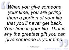 quotes about giving time