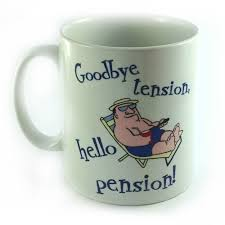 goodbye tension hello pension goodbye tension hello pension happy retirement gift mug cup mens