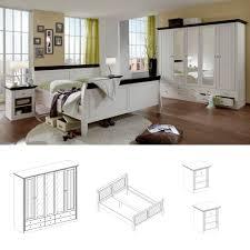 schlafzimmer monaco 4tlg set komplett white wash kolonial