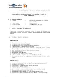 balance de comprobacion sunat temario curso concar 100 avanzado pdf