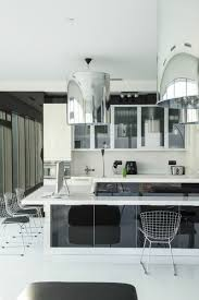 apartments white resin counters in black kitchen island also awesome futuristic apartment design so shiny with classy furniture white resin counters in black kitchen