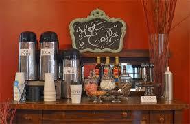 wedding reception coffee station