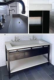 bathroom trough sink trough bathroom trough sink with two faucets