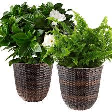 Planters And Pots Pennington Ceramic Vintage Floral Window Box Pot Planter 12 Inch