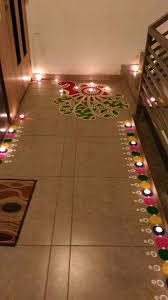 diwali decoration ideas homes diy diwali rangoli design using a paper cut out and poster colours