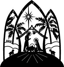 christmas nativity clipart black and white clipart panda free