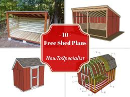 10 free storage shed plans howtospecialist how to build step
