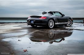 slammed cars iphone wallpaper 2012 black porsche boxster spyder by lake michigan brought to you