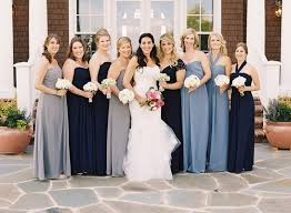 blue gray bridesmaid dresses mismatched bridesmaid dresses for trendy brides inside weddings
