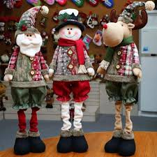 retractable santa claus snowman elk dolls standing