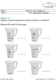 primaryleap co uk capacity worksheet