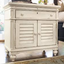 paula deen by universal home 996355 louvered door nightstand with