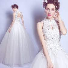 halter wedding dresses luxury lace collar napkin halter wedding dress dressson net