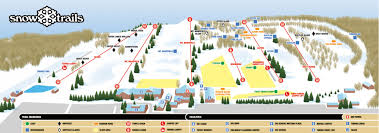 Snow Map Trail Map