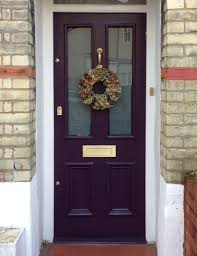 london front door farrow u0026 ball pelt with brushed brass hardware