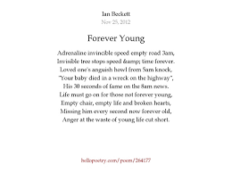 Empty Chair Poem Forever Young By Ian Beckett Hello Poetry
