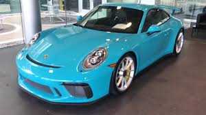 miami blue porsche gt3 rs miami blue 2018 gt3 youtube