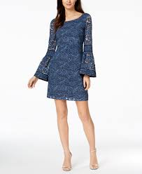 laundry by shelli segal laundry by shelli segal lace bell sleeve shift dress dresses