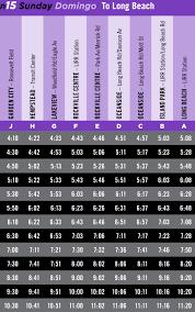 schedules n15 schedule