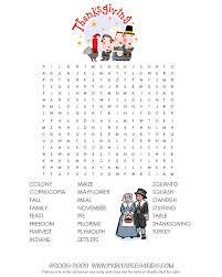word search puzzle thanksgiving activities festival collections