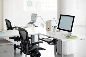 T Shaped Office Desk Furniture Modern T Shaped Office Desk For Two Home Interior Design