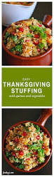 easy thanksgiving dish easy thanksgiving stuffing with quinoa and vegetables fooduzzi