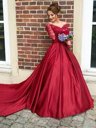 brautkleider rot rot lang ärmel brautkleider prinzessin stil nachmäßig anfertigen