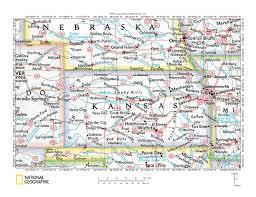 Map Of Ks Smoky Hill River Drainage Basin Landform Origins Colorado And