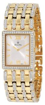 crystal bracelet watches images Men 39 s gold watches store bulova men 39 s 98a124 crystal bracelet jpg